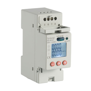 Rail mounted single phase energy meter