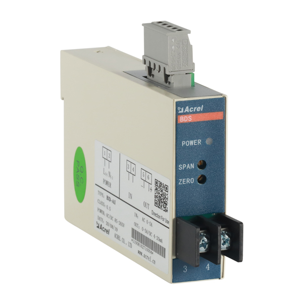 Single phase DC current transducer